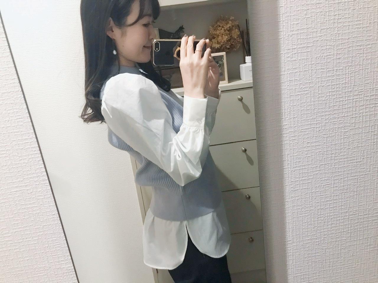 【GU】1990円とは思えない!1枚でトレンドのレイヤードスタイル&春まで使えるニット♡_5