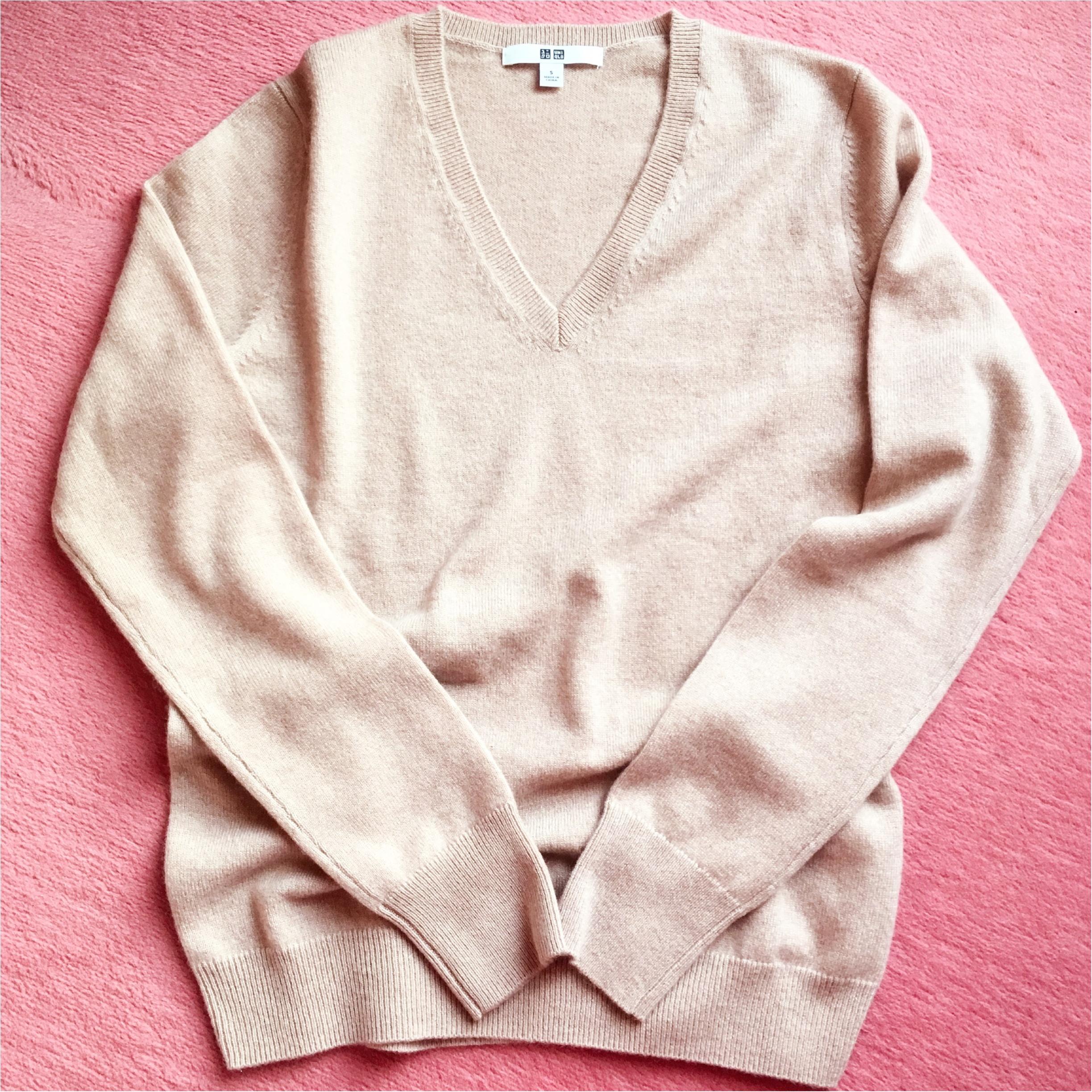 【UNIQLO】カシミヤセーターを半額でgetしちゃいました♡【セール】_2
