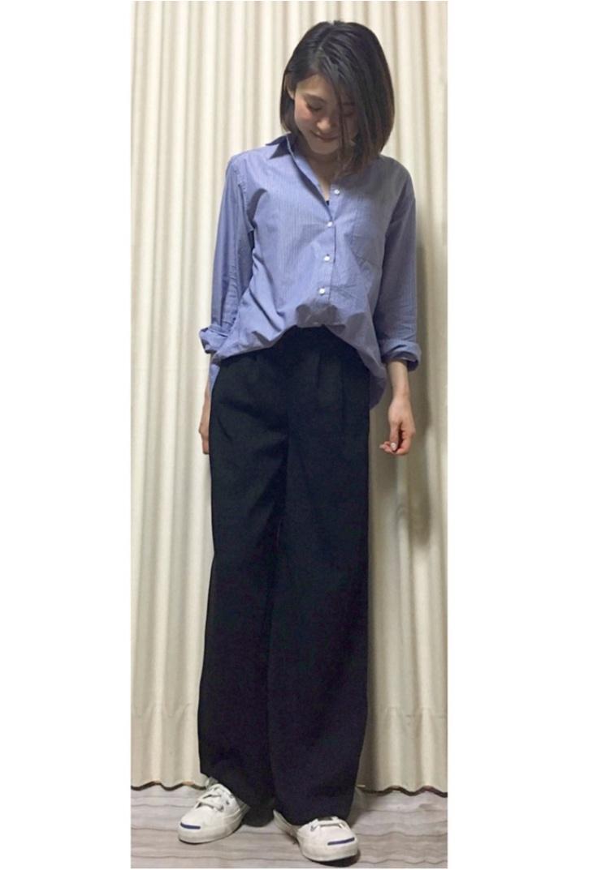 Coordinate...ビックシルエットシャツとワイドパンツでつくる女性らしい、こなれコーデ☺︎_1