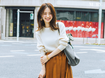 【今日のコーデ】<逢沢りな>友達と買い物三昧☆プリーツスカートをロンTでカジュアルMIXして