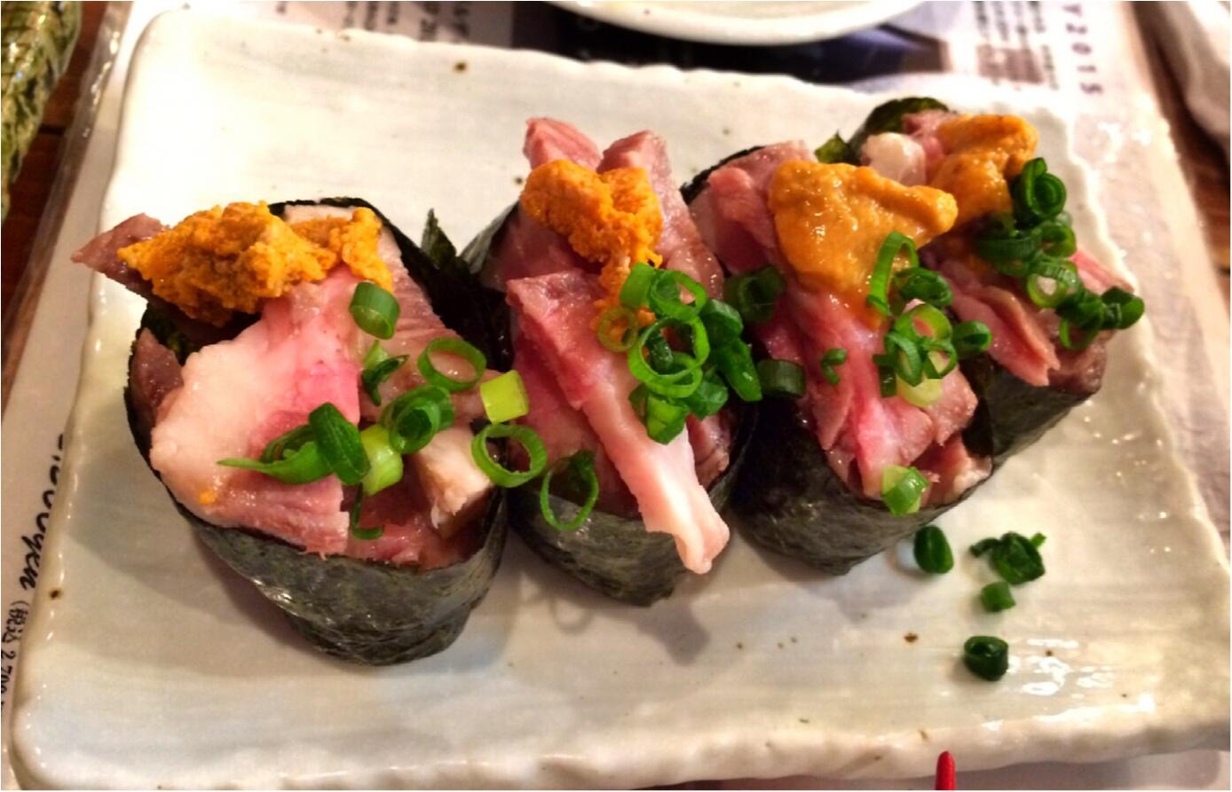 お肉好きなら必見!!恵比寿横丁の肉寿司へ行ってきました♡_3