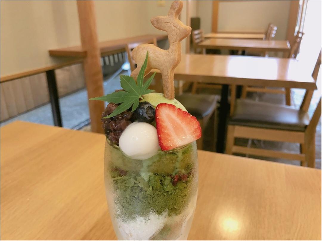 宮島のおすすめスイーツ♡ 濃厚な抹茶と季節のいちごパフェ ♡♡_3