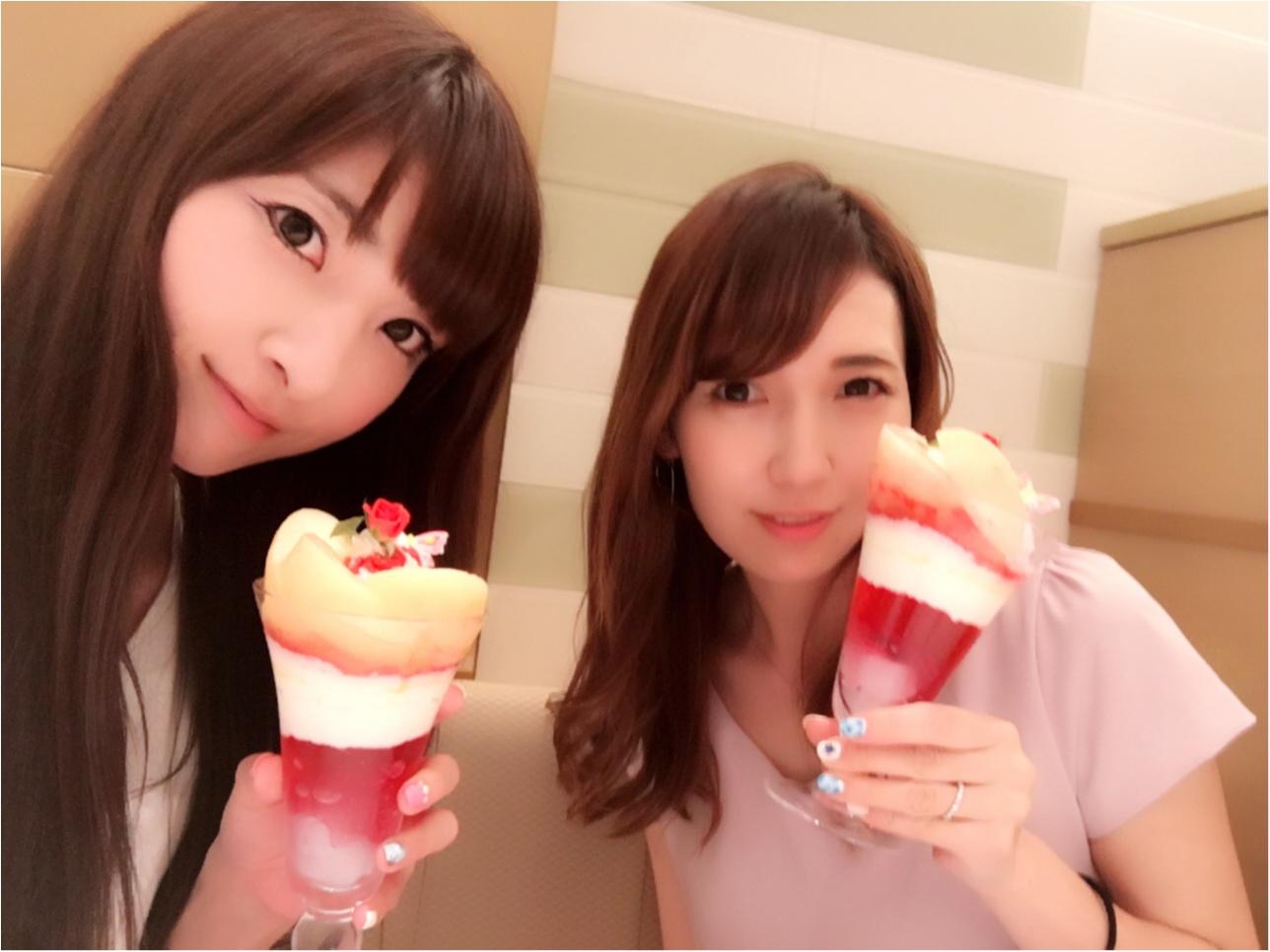 ♡桃をまるごと使った豪華パフェ【渋谷・西村フルーツパーラー】2300円♡モアハピ◡̈のぞみ♡_2