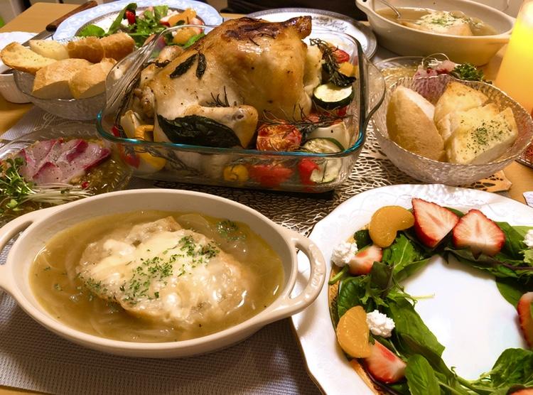 【♡クリスマスパーティー♡】丸鶏のローストに初挑戦♪_3