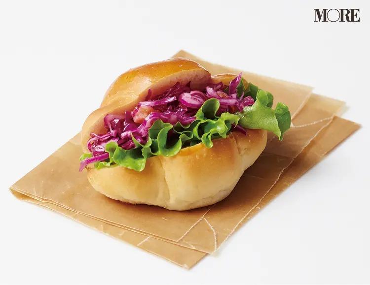 ロールパン+紫キャベツのグレープフルーツ和え