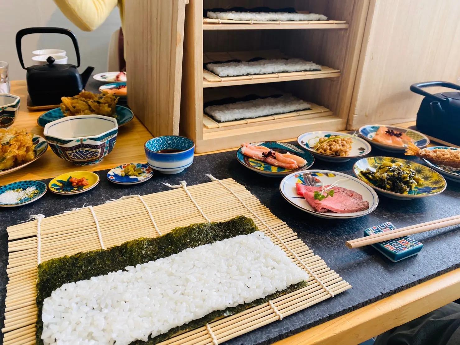 「細巻き寿司」の体験