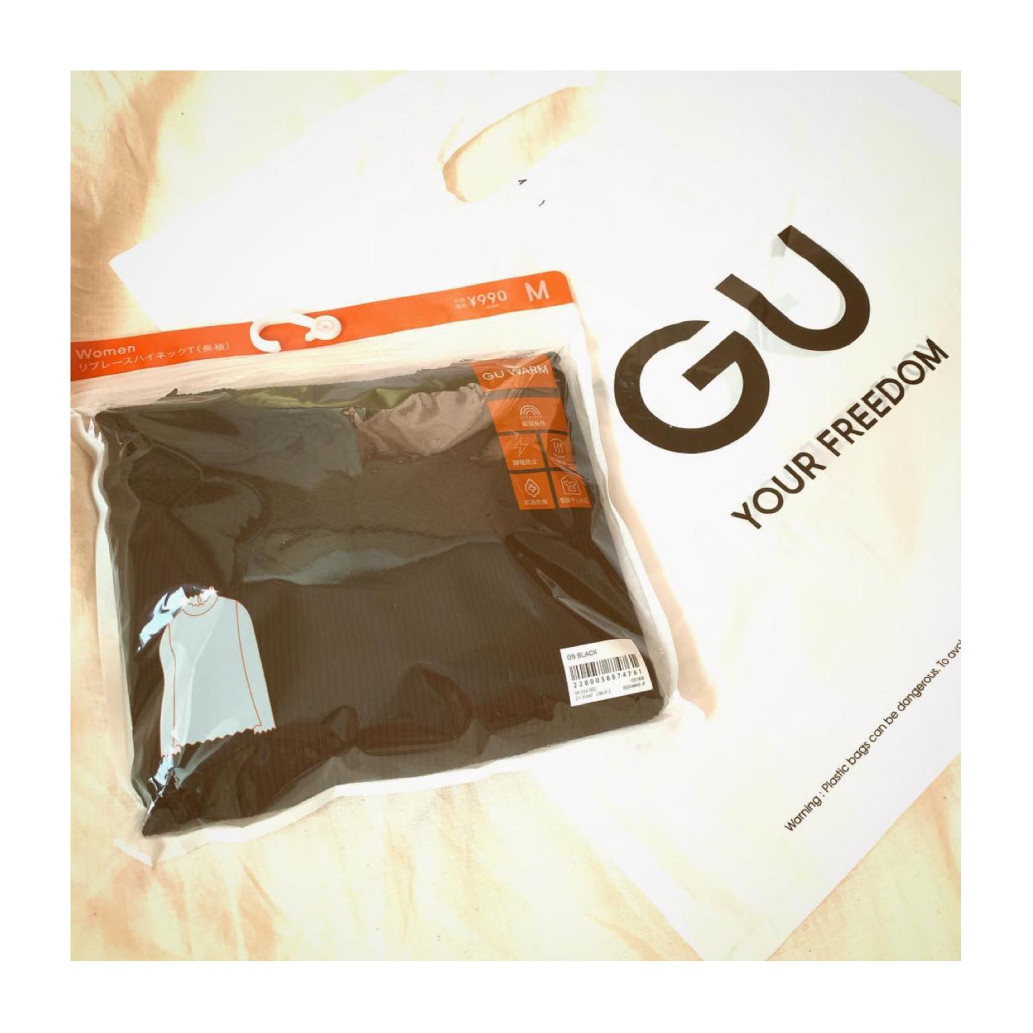 《オンラインストアで即完売⁈❤️》今年マストバイの【GU】ウォーム☺︎リブレースハイネックTがかわいすぎる!_1