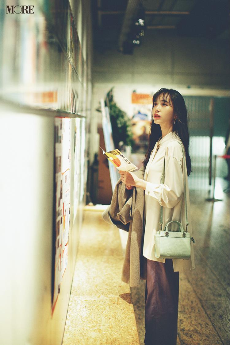 「木曜夜はギャラリーへ。新しいパステル色パンツをはいて」井桁弘恵主演[2月→4月の計画的買い足し着回し]13日目_1