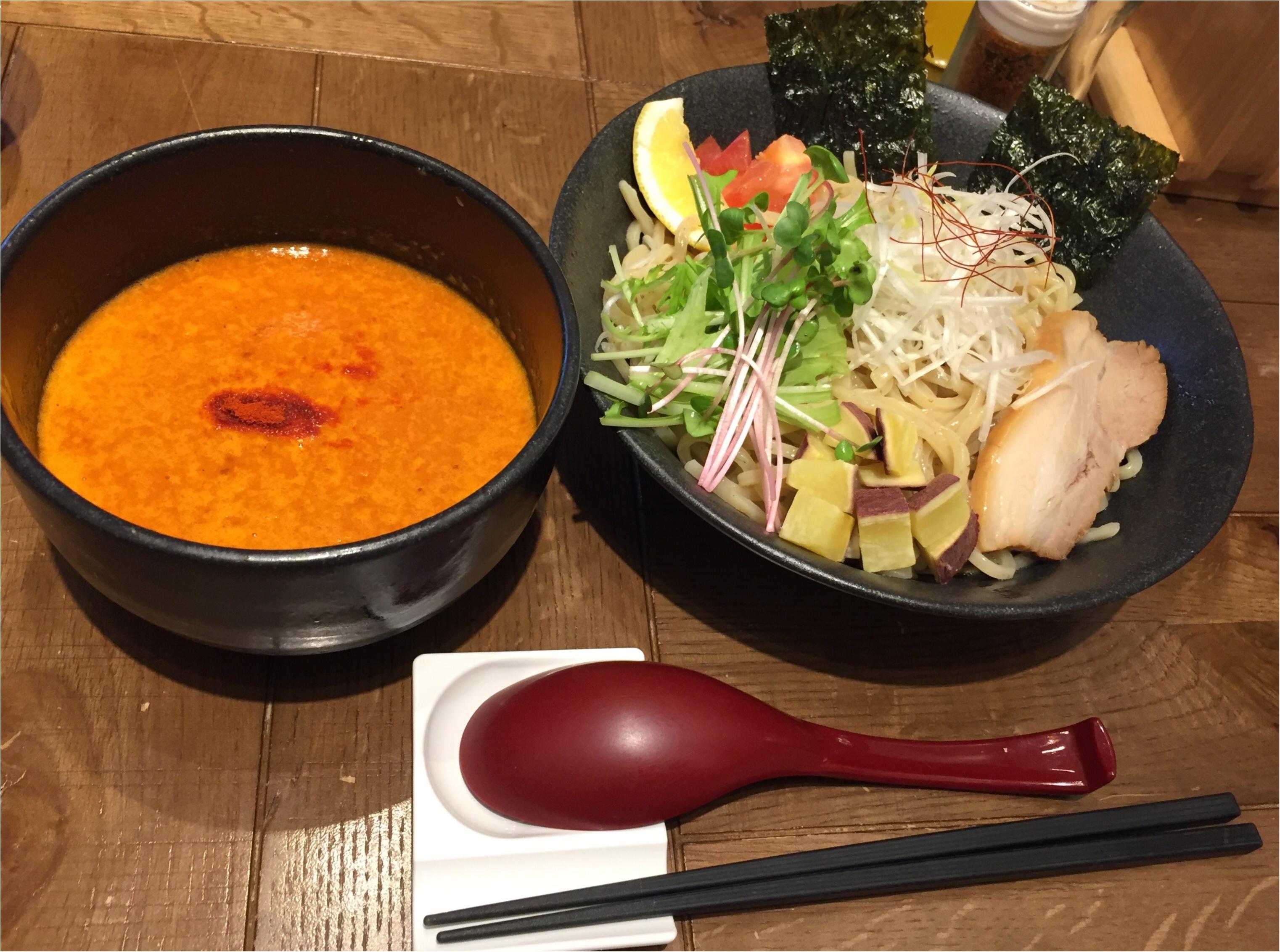 まるでビスクなヘルシー海老つけ麺✨海老鶏麺蔵が堺筋本町にOpen✨_7