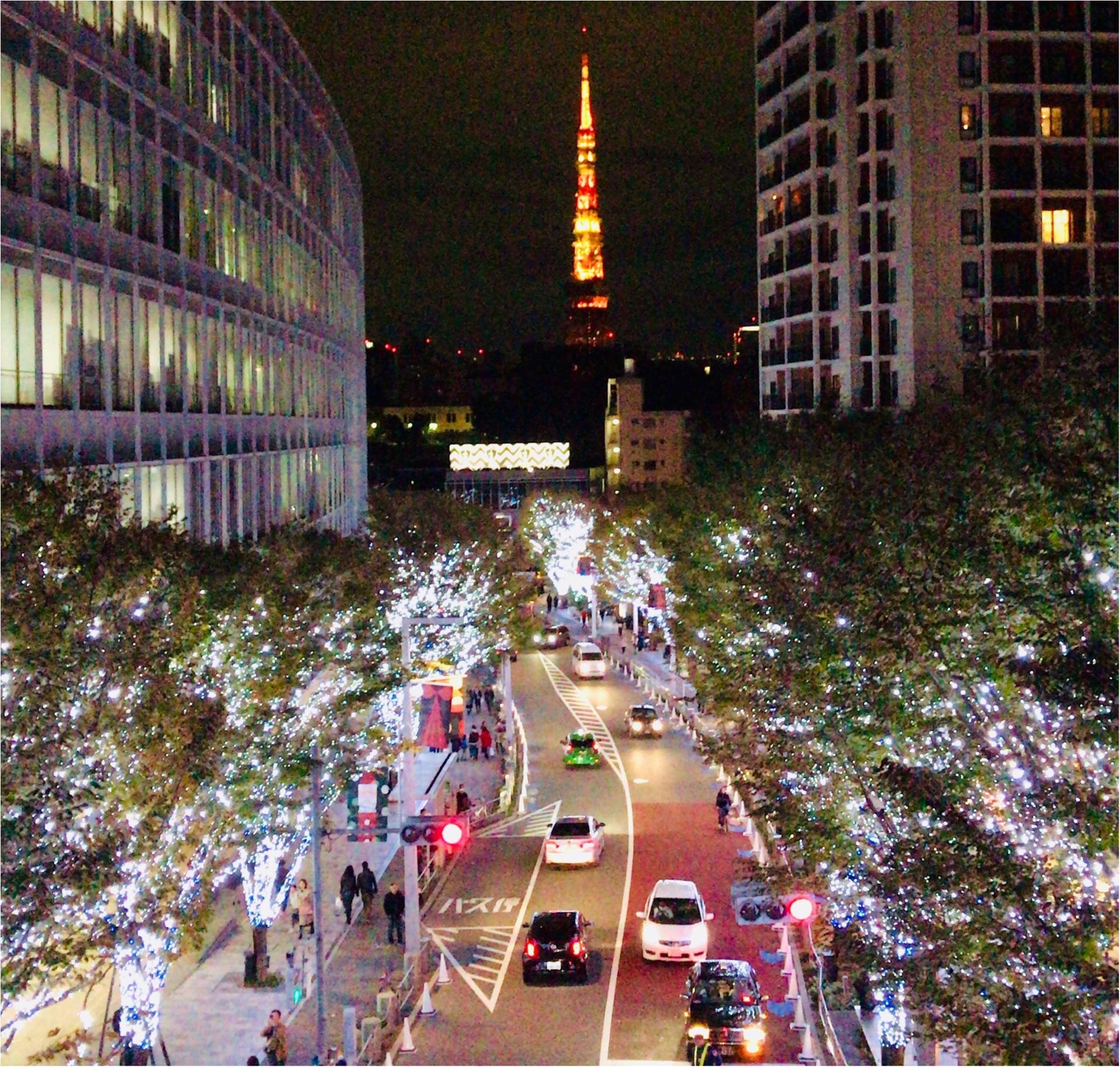 六本木の冬の風物詩【けやき坂イルミネーション】東京タワーとのコラボが幻想的♡_1