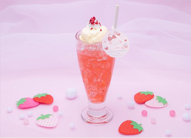 こぎみゅんカフェメニュー「あのコと飲みたいみゅん‥初恋いちごクリームソーダ」