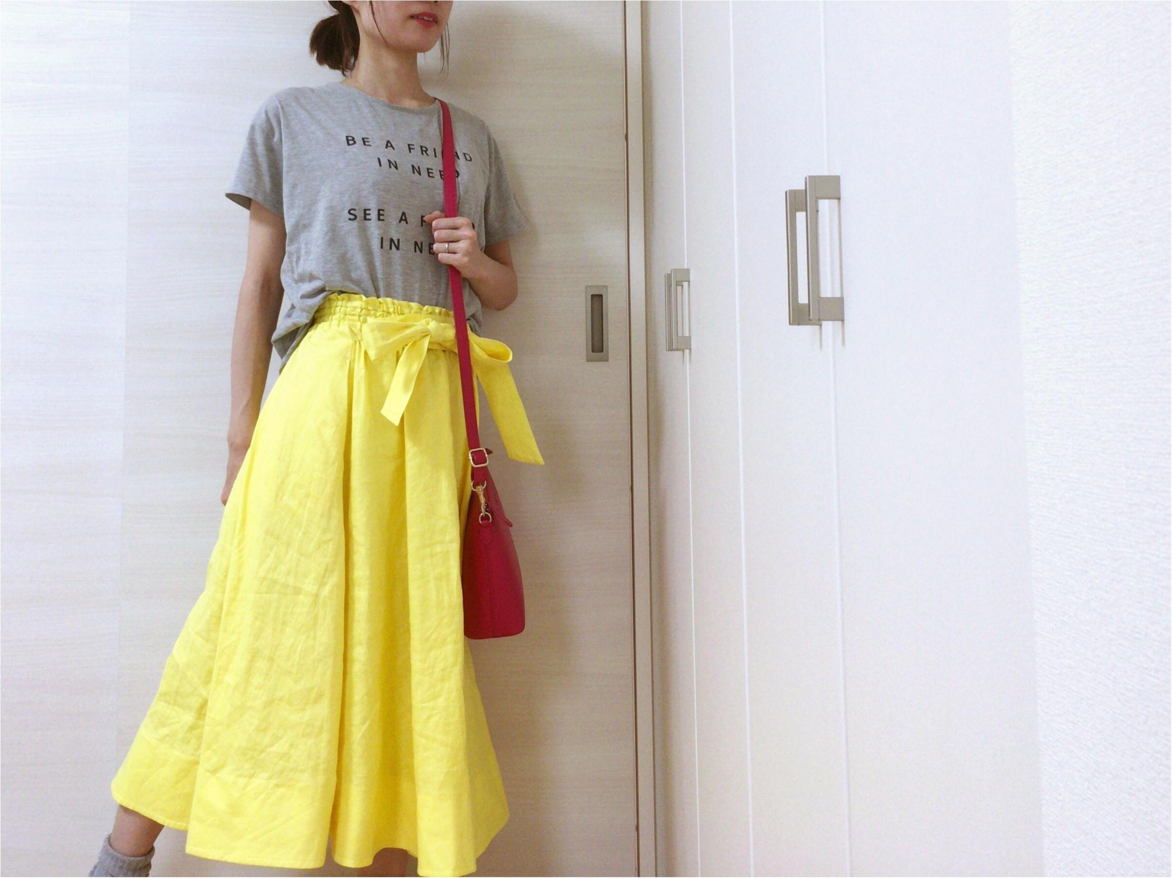 即使える【夏コーデ3選】流行!《イエロースカート》カジュアルからオフィス・休日まで簡単着回し♡_2