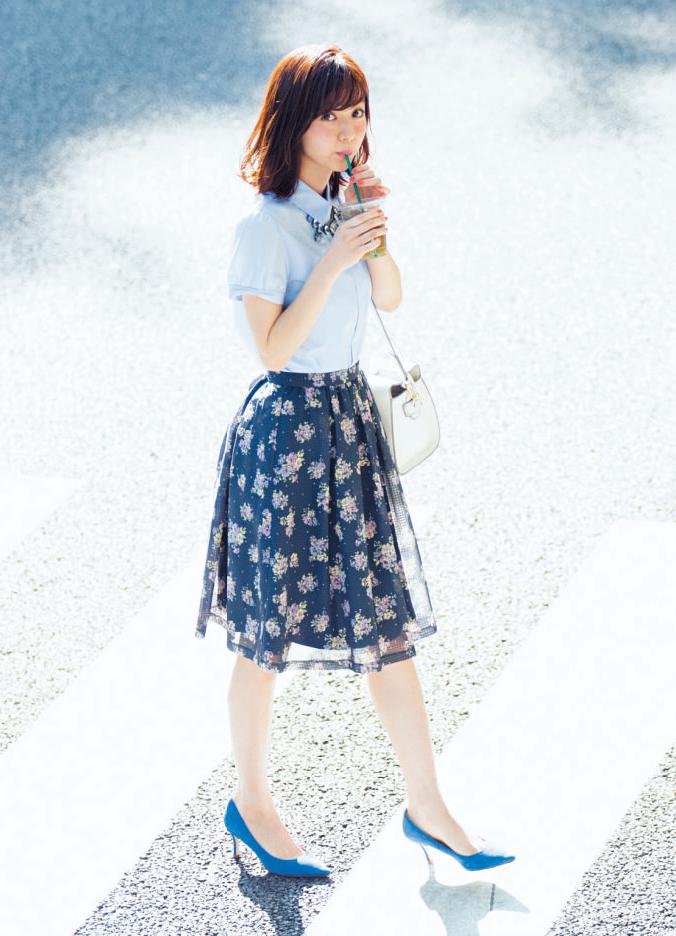 【今日のコーデ】きちんと華やかなブルーのワントーンなら仕事もデートも絶好調_1
