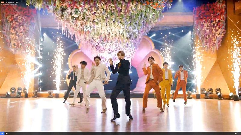 BTS、グラミー賞でのパフォーマンス