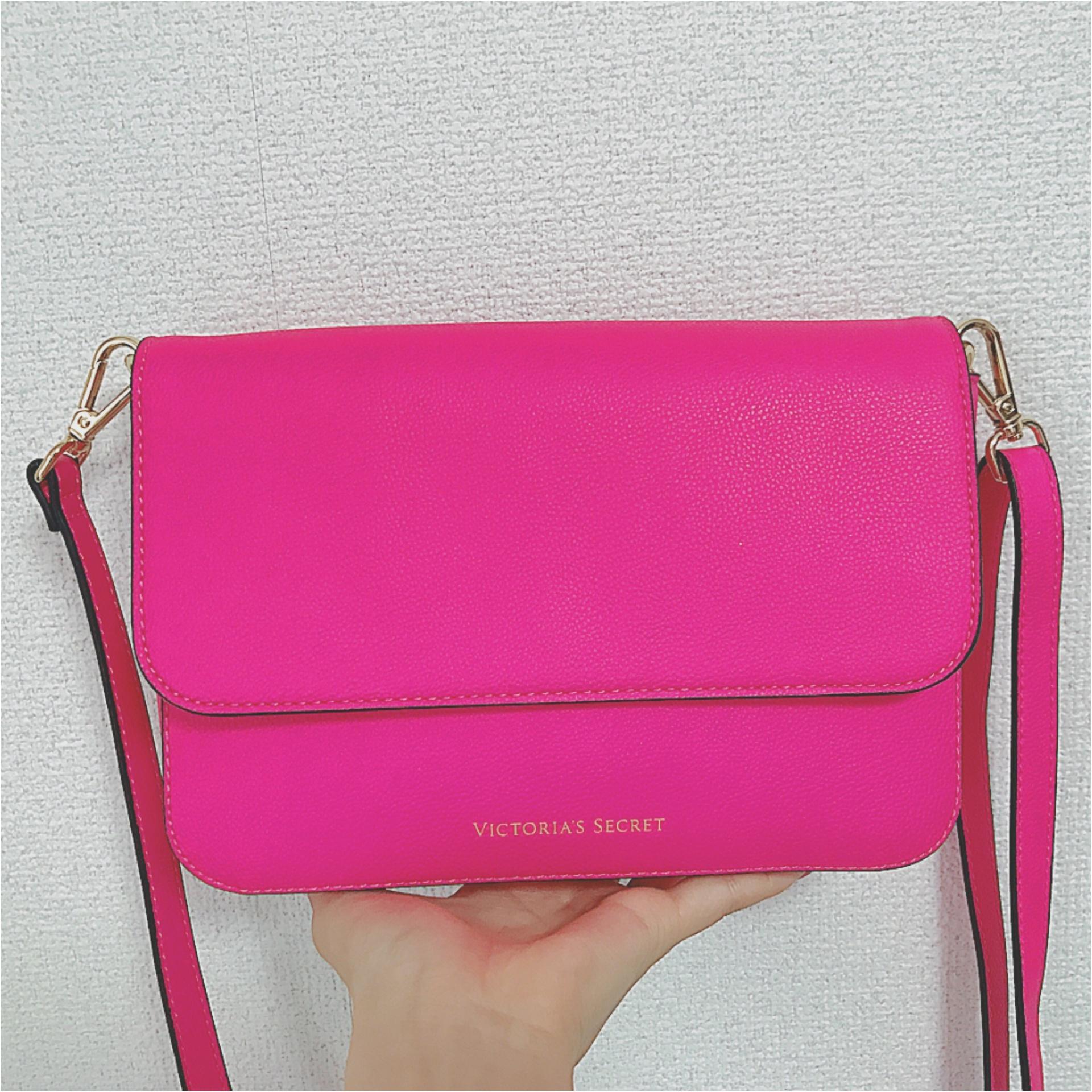 ★やっぱりビビットカラーが好き♡ビビットピンクのショルダーバッグが意外と使えるんです★_1