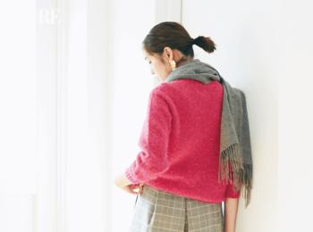 【今日のコーデ】ピンク×グレイの相思相愛カラーでワンツーコーデのマンネリ感を払拭!