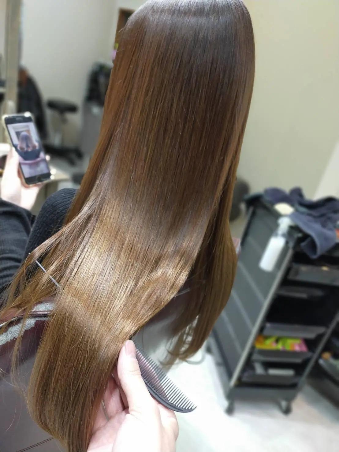 ロングヘアを髪質改善