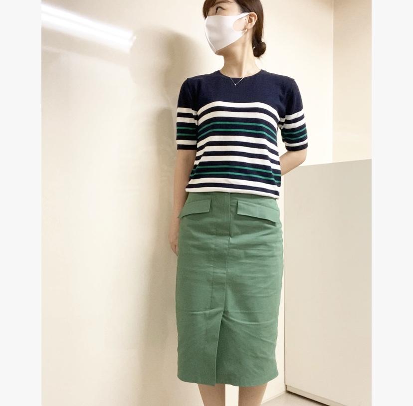 【オフィスコーデ】グリーンスカートでツクる3変化_3
