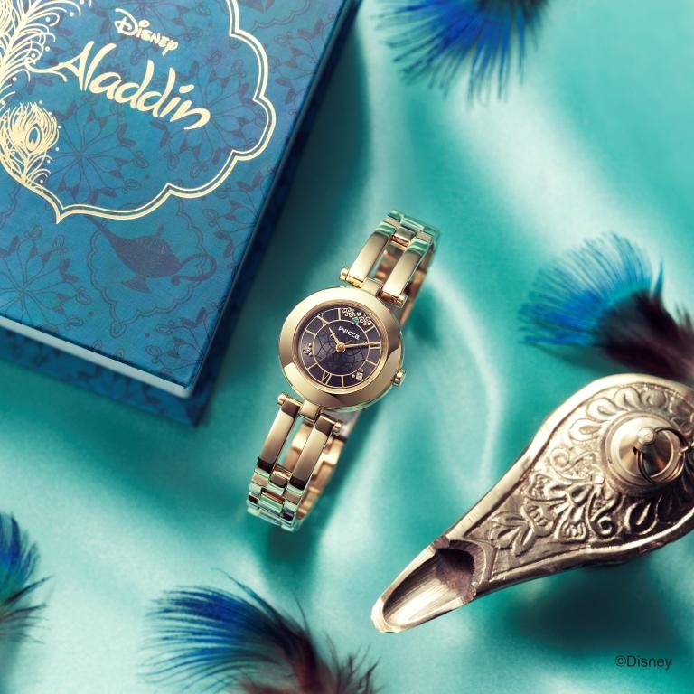 ハスの花や魔法のじゅうたんも♡ 『アラジン』の世界を表現したウオッチを『ウィッカ』が発売中!_1