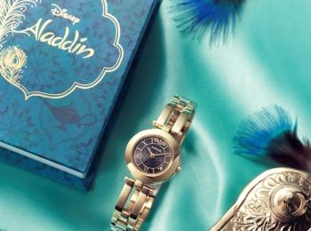 ハスの花や魔法のじゅうたんも♡ 『アラジン』の世界を表現したウオッチを『ウィッカ』が発売中!