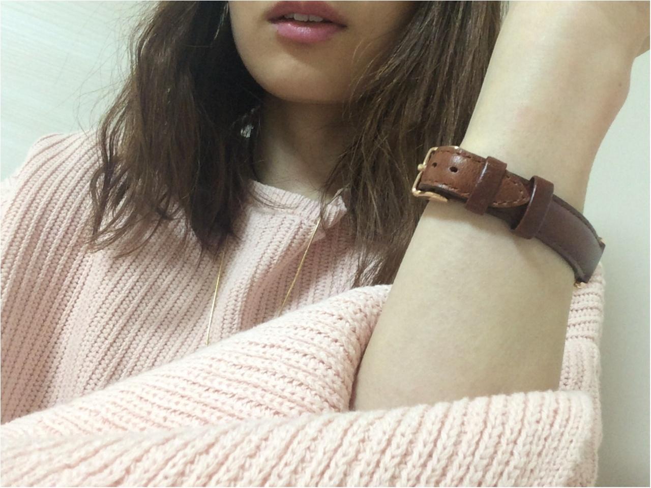 【GU春新作】流行る!馴染みピンクのお袖フレア可愛い♡《カフスリットセーター》_5