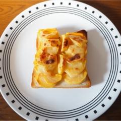 moco▶︎激ウマ!柿トーストで美味しい朝を♡