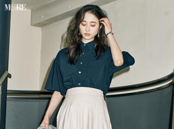 【今日のコーデ】<鈴木友菜>便利なエコレザーのスカートで一目置かれる先輩コーデに
