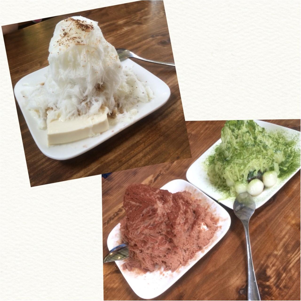 福岡♡オススメグルメ♡ふわふわひんやりカキ氷!とパリパリカリカリ鶏皮!_3