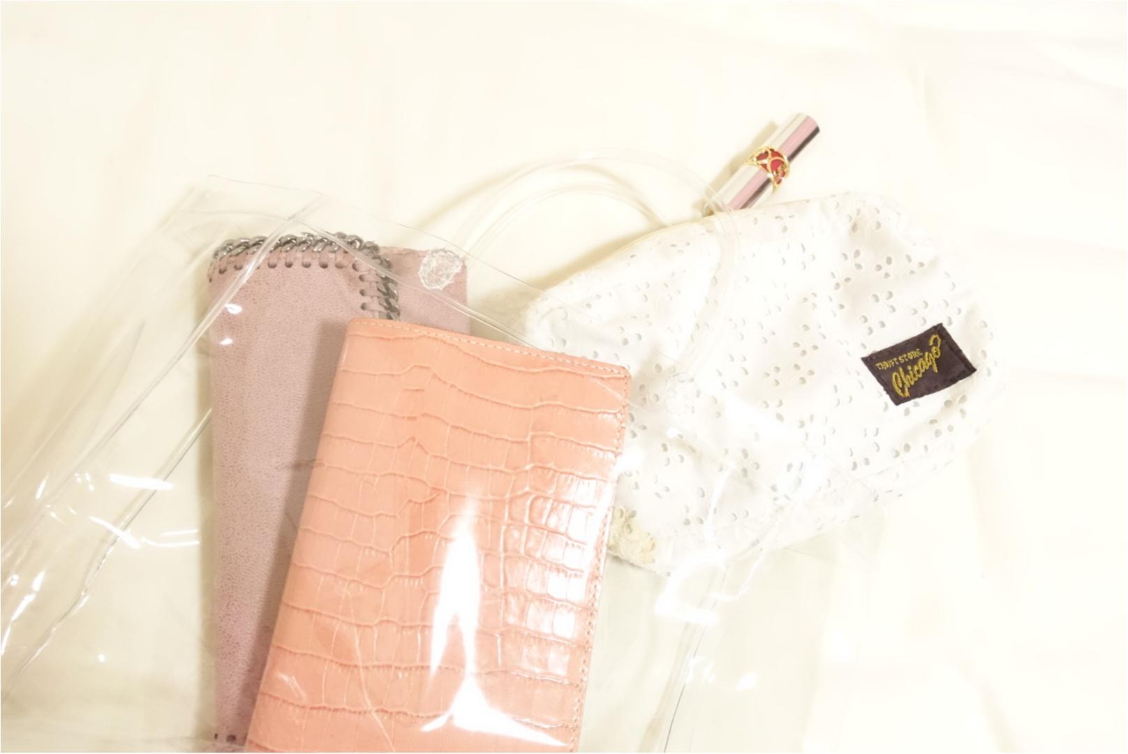 ★流行りのクリアバッグは【DAISO】でget!お洒落に見える一工夫をすれば高見え効果も!_2