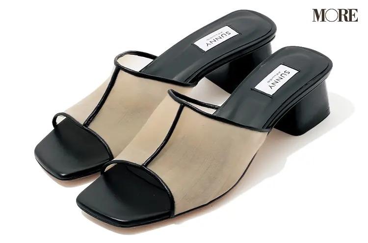 【2021春夏おすすめブランド靴】『ペリーコ サニー』スクエアトウメッシュミュール