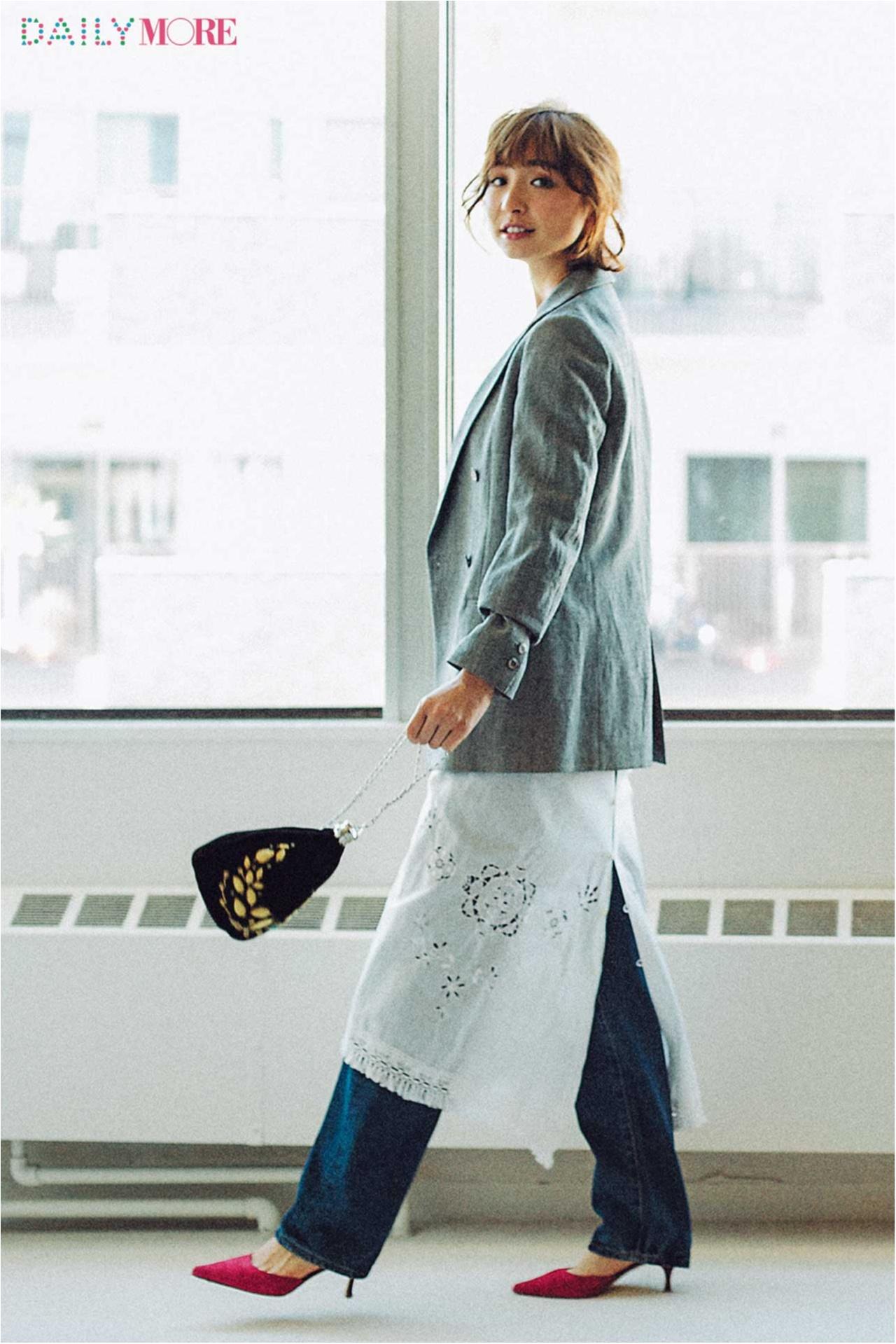 【今日のコーデ/篠田麻里子】ジャケットで鮮度を上げたい日曜日。_1