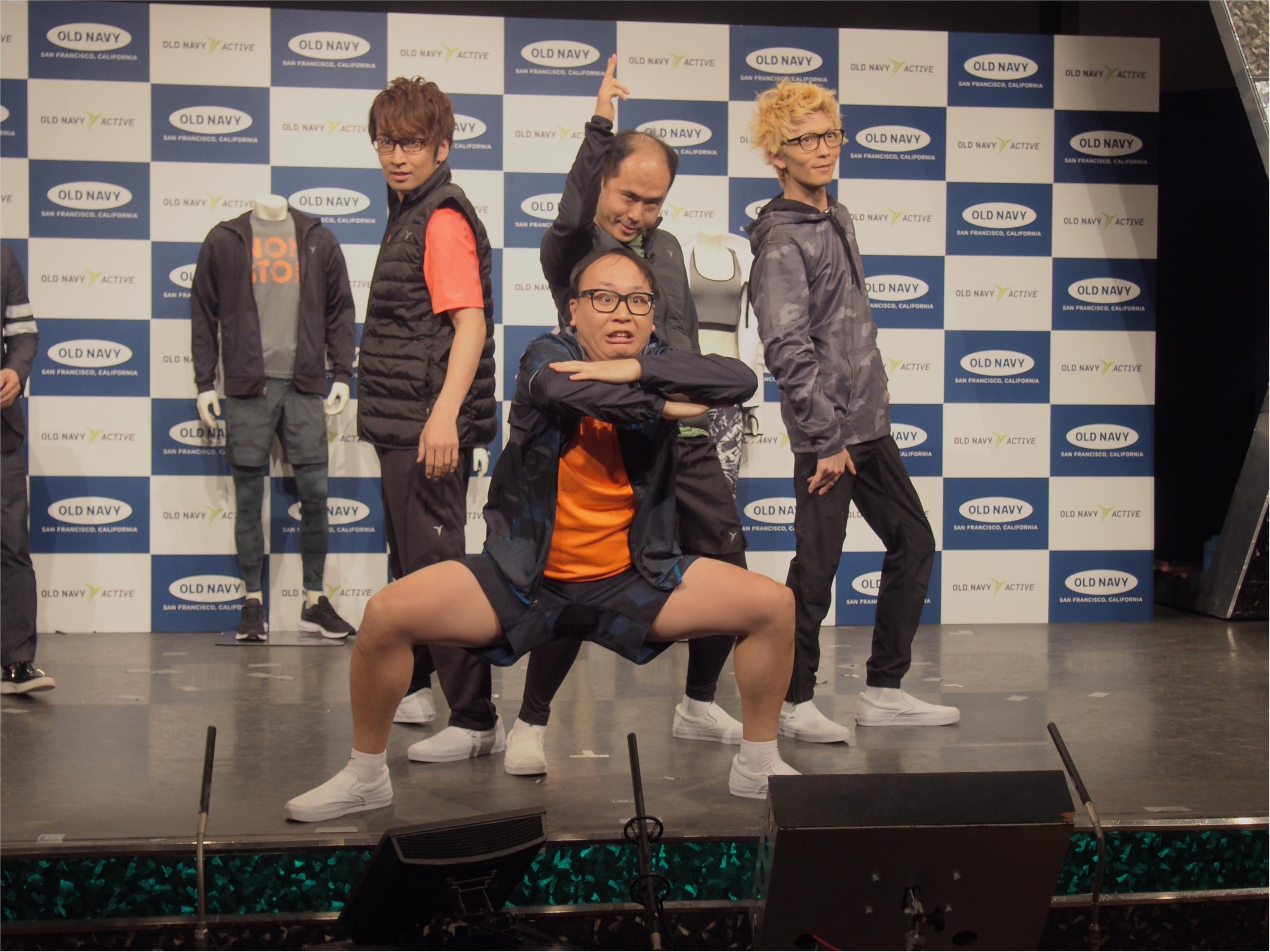 エグスプロージョン&トレンディエンジェルがダンスで魅せる! 『OLD NAVY』アクティブウェアが日本初上陸☆_3