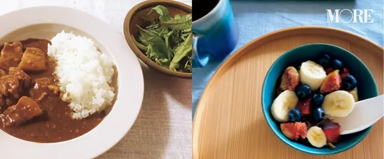飯豊まりえが普段食べるヨーグルトとカレー