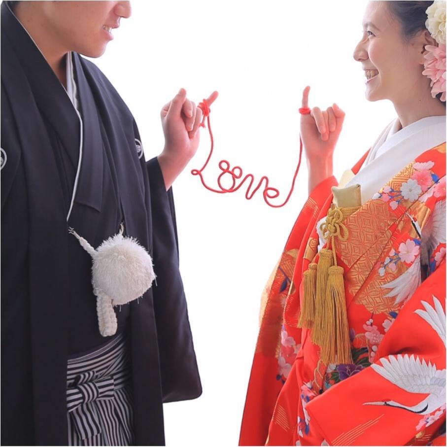 結婚式の写真をおしゃれに演出♡運命の赤い糸_6