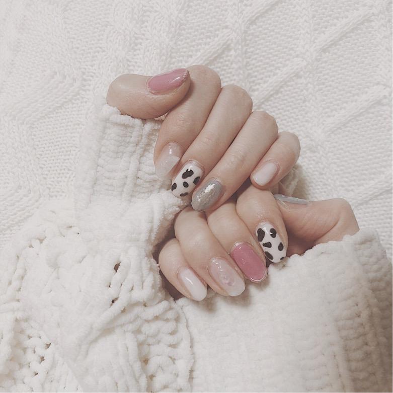 《selfnail》最近のネイル事情❤︎アニマル柄や、うねうねネイルが可愛い♡_1