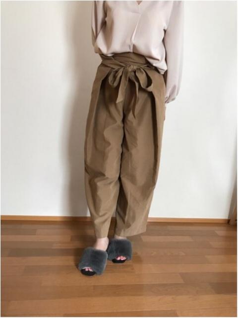 【秋ファッション】《ROPE PICNIC》にてワイドパンツをGET★ファーミュールとも相性抜群!!_3