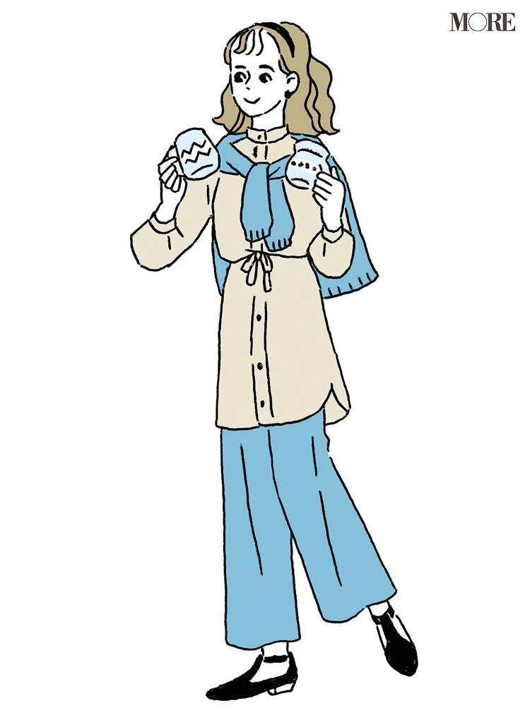パーソナライズ診断で慎重型の女性のイラスト