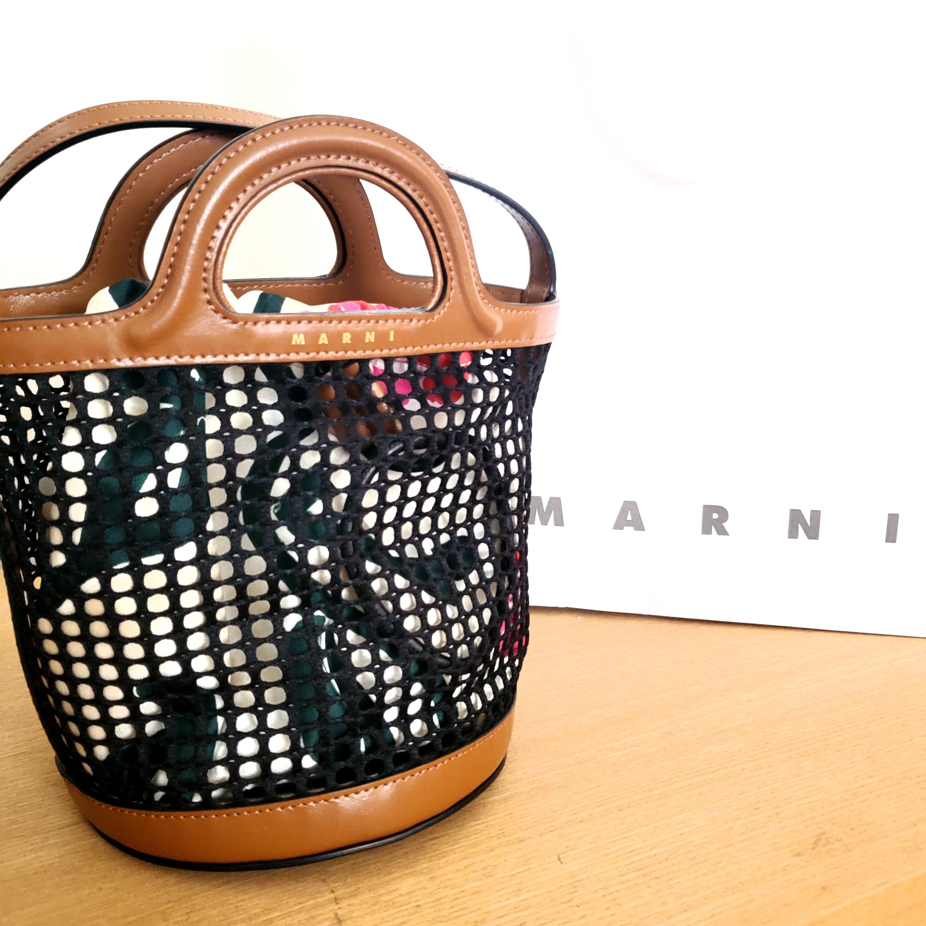 人気ブランド《夏のかごバッグ》バケツ型バッグでこなれ感【MARNI】_1