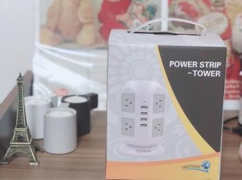 【テレワークの救世主】タワー式電源タップで、コンセントの数を拡張しちゃおう!