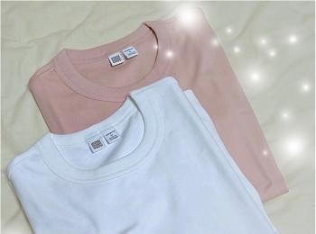 【Uniqlo U】ベーシックアイテムこそこだわりを!生地の透け感 厚み シルエットすべて検証!細見えまでしちゃう超優秀¥1000Tシャツだった♡コーデ画有✌︎