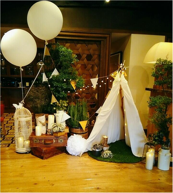 """結婚式を挙げた式場で""""キャンプ""""をテーマとした『WELCOME BACK PARTY』が開催されました!!結婚式のアイデアとしても魅力満載!(443 まゆ  _2"""