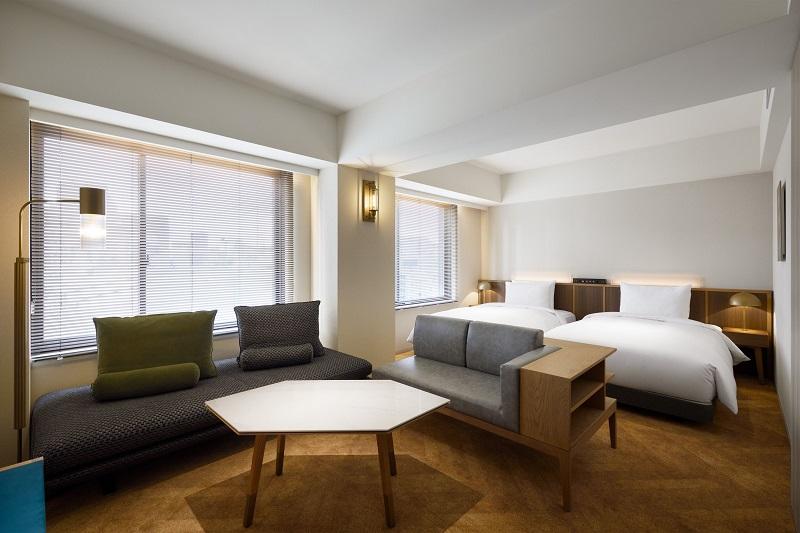 【東京のおしゃれなホテル】『NOHGA HOTEL AKIHABARA』部屋「デラックスツインルーム」