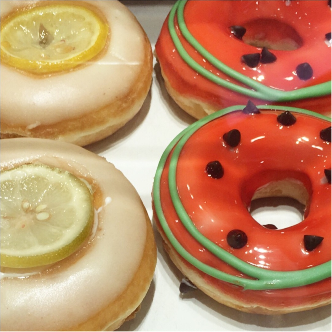 【期間限定】もう食べた?夏限定のクリスピークリームドーナツのフルーツドーナツ♡_4