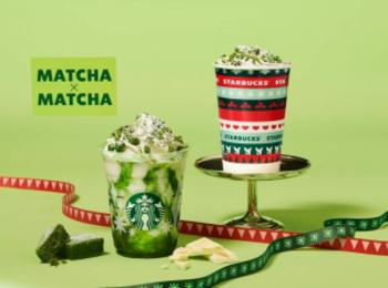 【スタバ 新作】クリスマス2020第2弾! 「抹茶×抹茶 ホワイト チョコレート フラペチーノ」が期間限定で登場