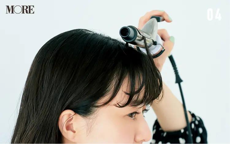 うねりを生かす前髪アレンジ「ゆるカールバング」【4】根元を立ち上げる