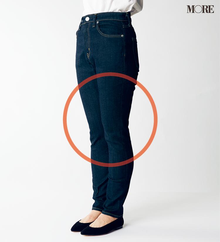 デニムパンツ&ワイドパンツ、どの靴と合わせるのが1番きれい? MOREがその相性を徹底検証!_2_1