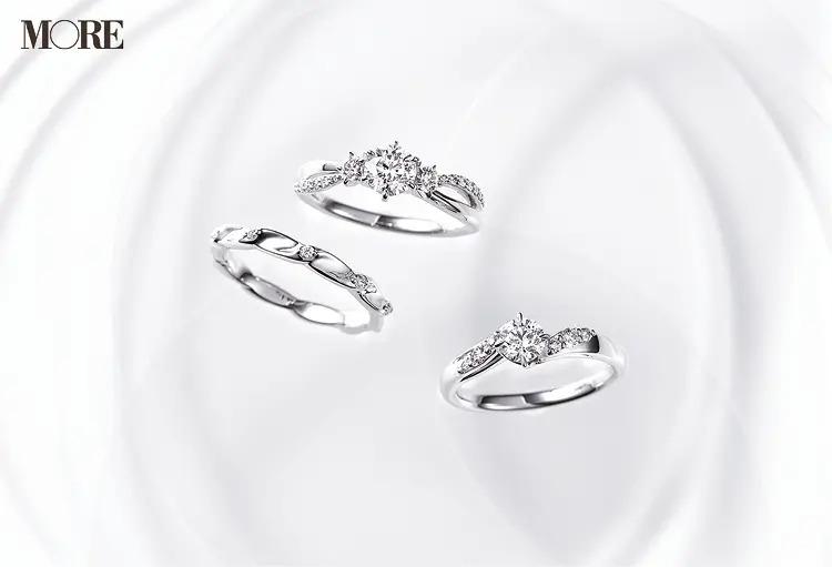 結婚指輪におすすめのスタージュエリーのエンゲージメントリング2種とマリッジリング