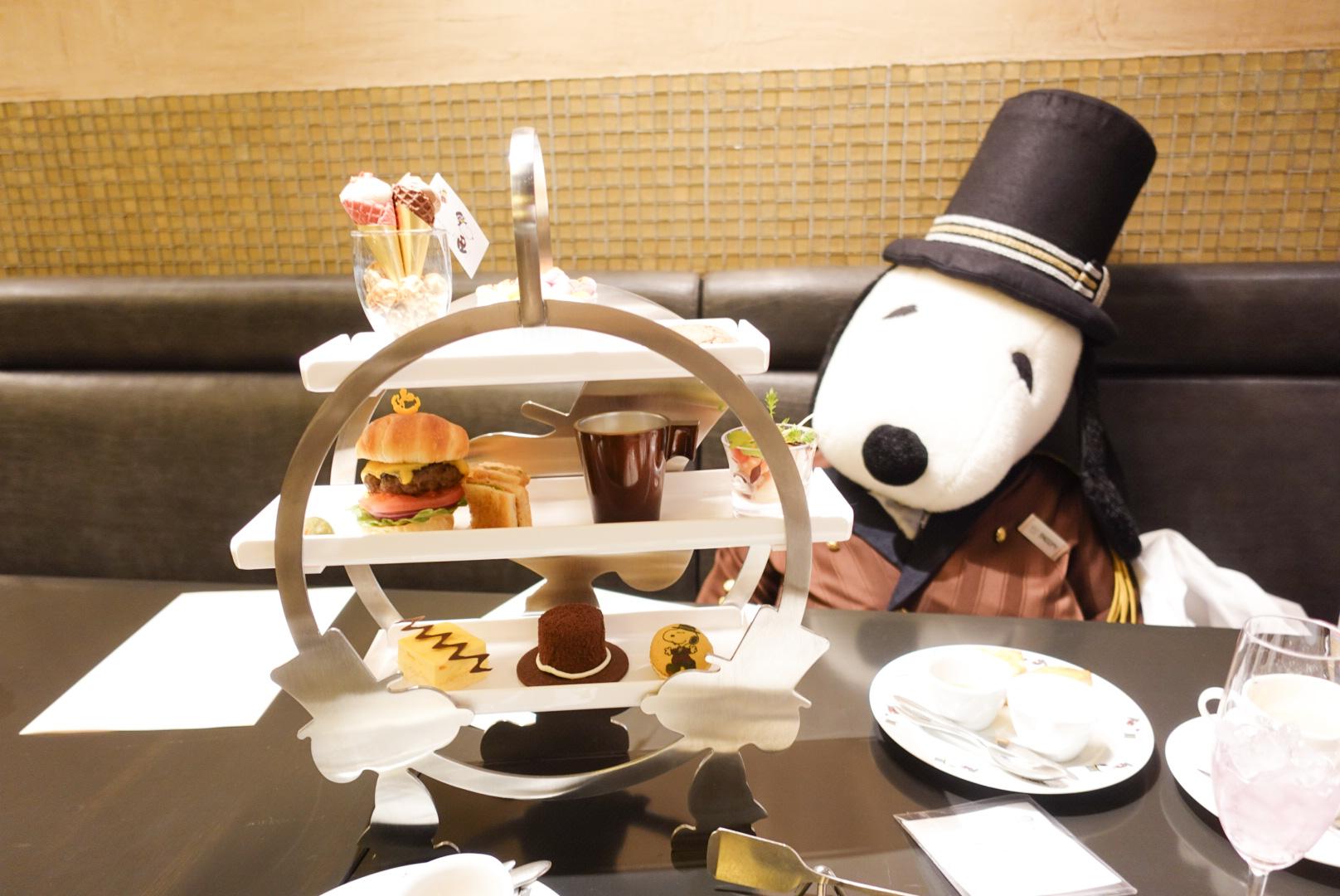 ドアマン・スヌーピーのアフタヌーンティーを帝国ホテル大阪「カフェ クベール」にて堪能★スヌーピーらしいアメリカンな内容で席に大きなドアマンスヌーピーのぬいぐるみの用意も^^_1
