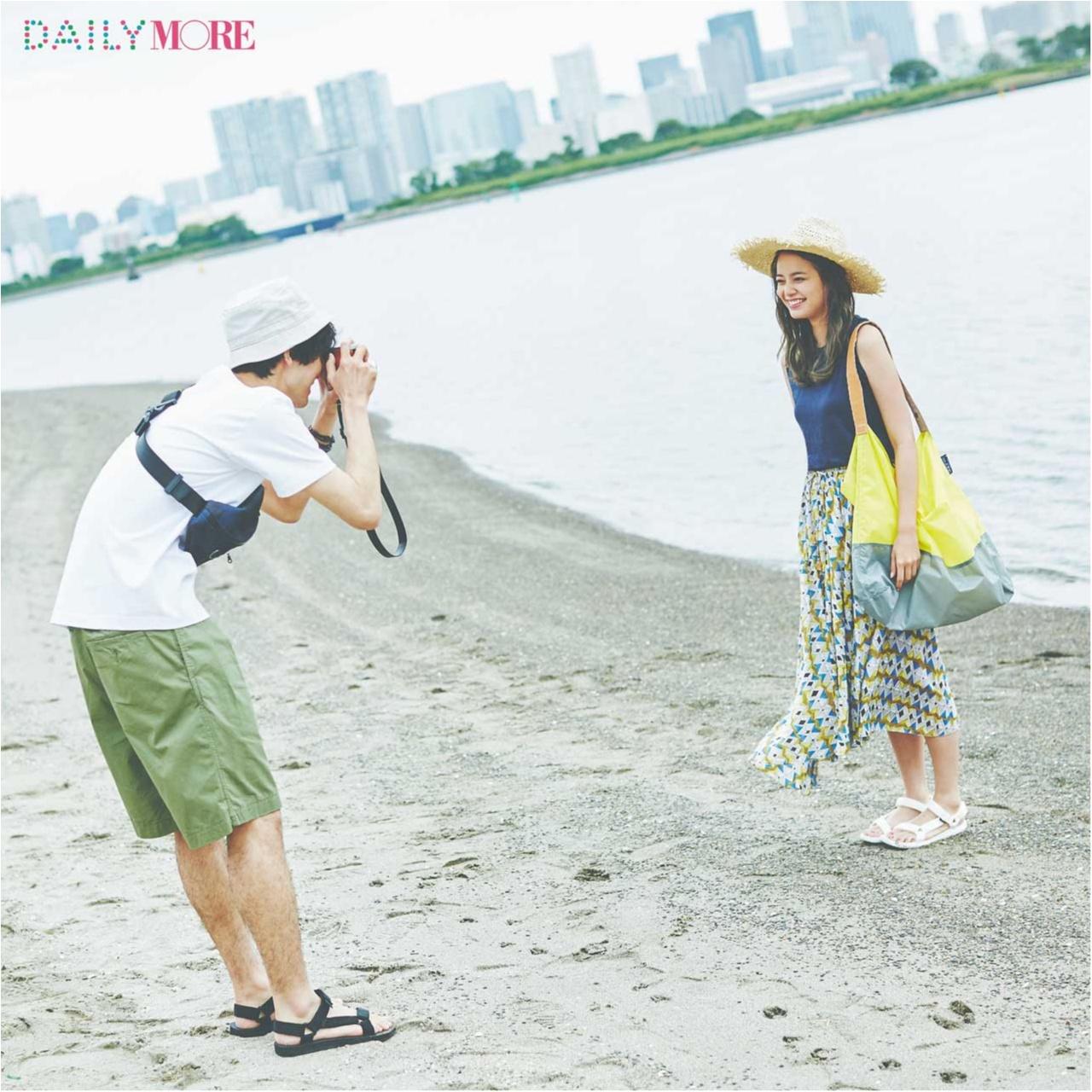 【今日のコーデ/岸本セシル】夏の鉄板、海デートはタンクトップ×エアリーなスカートでカジュアル可愛く♡_1