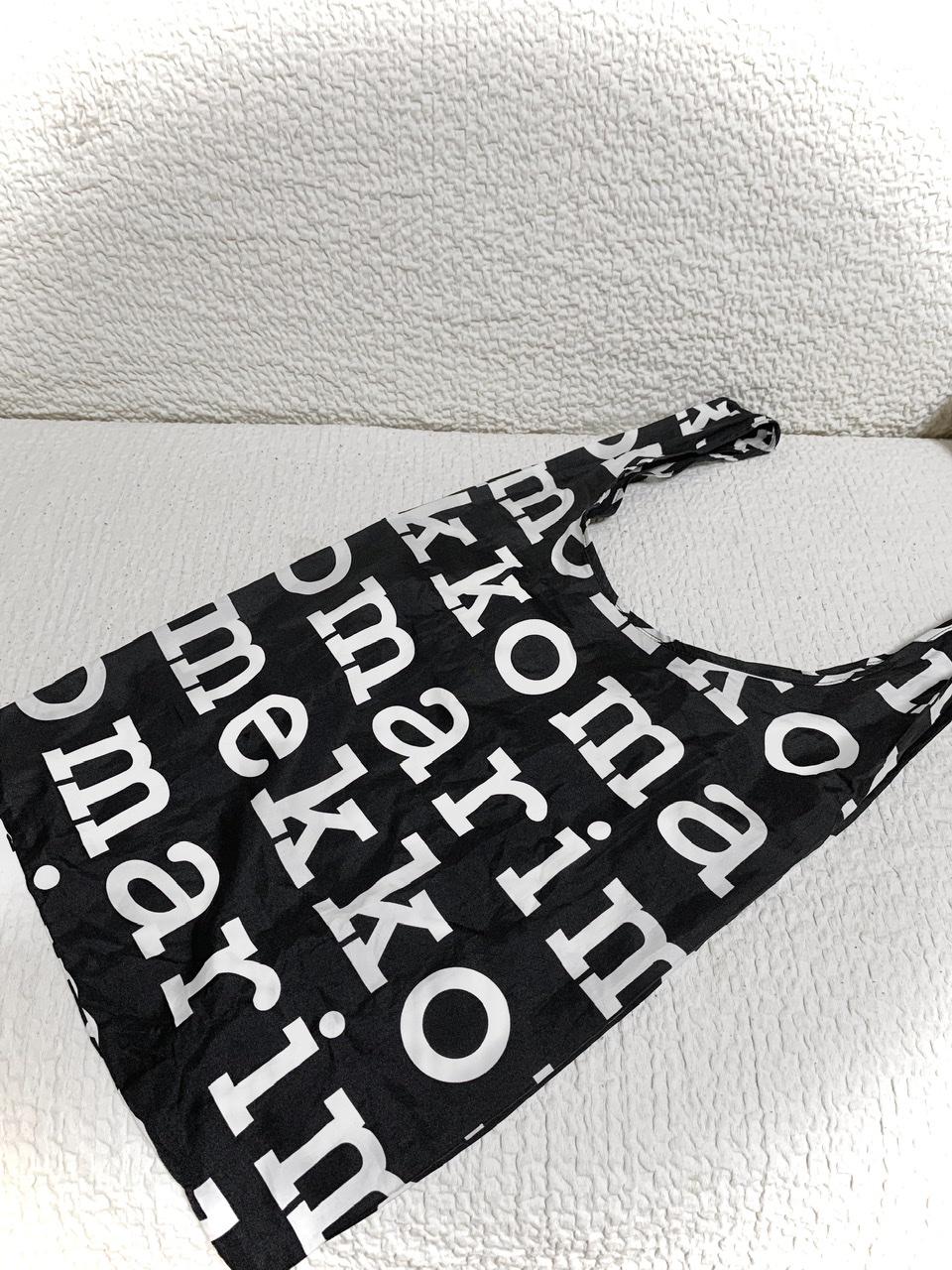 【エコバッグ】♡収納袋一体タイプ♪マリメッコおしゃれエコバッグ♡_1